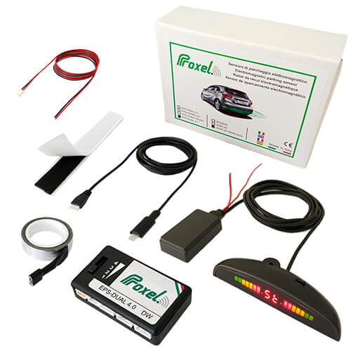 Kit invisible electromagnetic parking sensors EPS-DUAL 4.0 with display Wireless