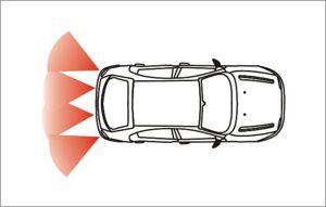 sensores de aparcamiento de la zona, por ultrasonidos