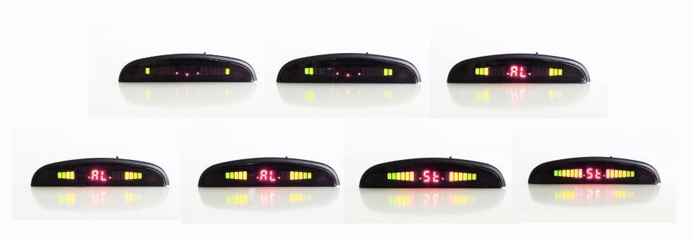 Secuencia Led pantalla sensores aparcamiento electromagneticos