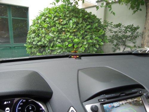 sensori di parcheggio elettromagnetici invisibili display via cavo plancia